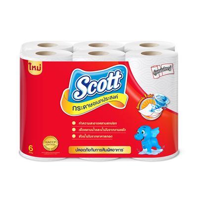 กระดาษอเนกประสงค์ (แพ็ค6ม้วน) สก๊อตต์ Towels