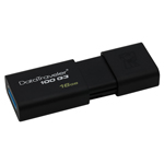 แฟลชไดร์ฟ Kingston Data Traveler DT100 G3 16GB Black